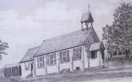 Historical Woodside UMC building sketch